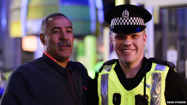 Daley Thompson and cop