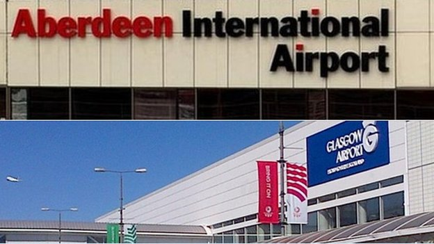 Aberdeen and Glasgow Airports