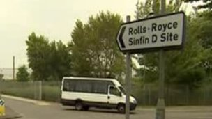 Rolls-Royce sign in Derby