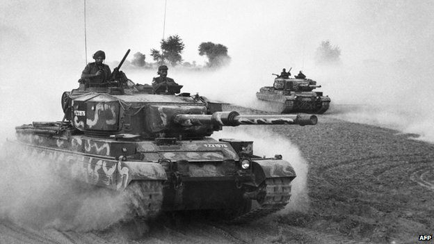 Indian tanks during Bangladesh's war of independence