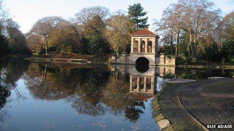 Birkenhead Park, Wirral in Merseyside