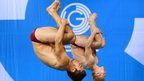 England's Jack Laugher and Chris Mears