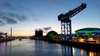 Sunset over the River Clyde