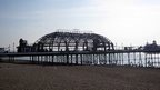 Fire-damaged Eastbourne Pier