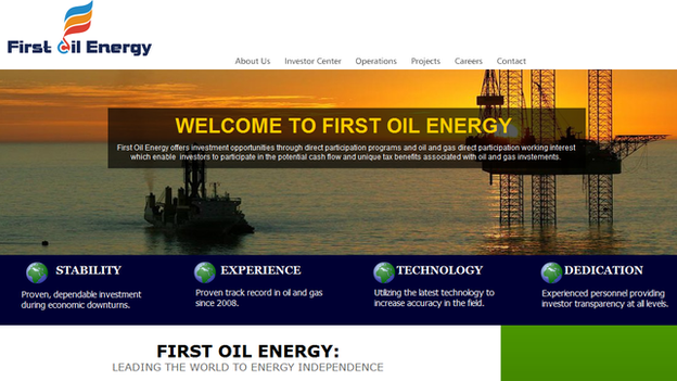 bogus oil industry website