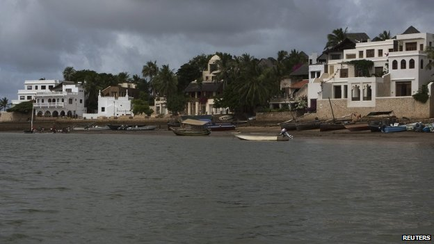 A beach in Lamu, Kenya, July 2013