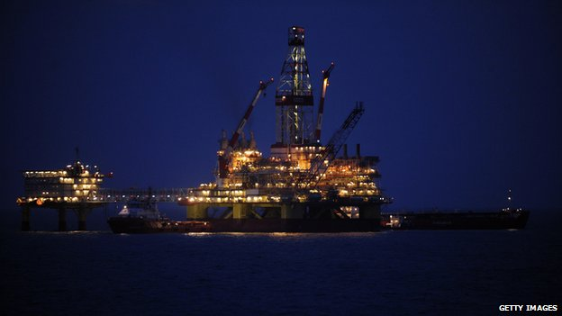 Oil platform in Russia