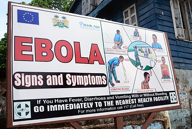 Information poster about Ebola
