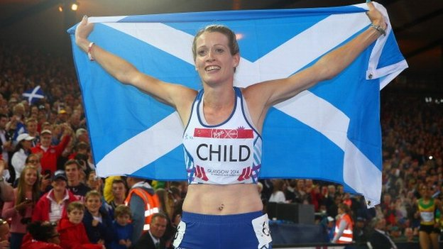 Eilidh Child, winner of 400m hurdles silver medal