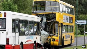 Bus crash in Stanley
