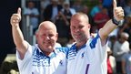Alex Marshall (left) and Paul Foster have won two gold medals at the Games