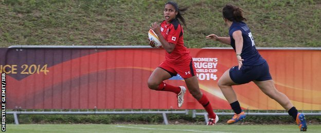 Canada winger Magali Harvey