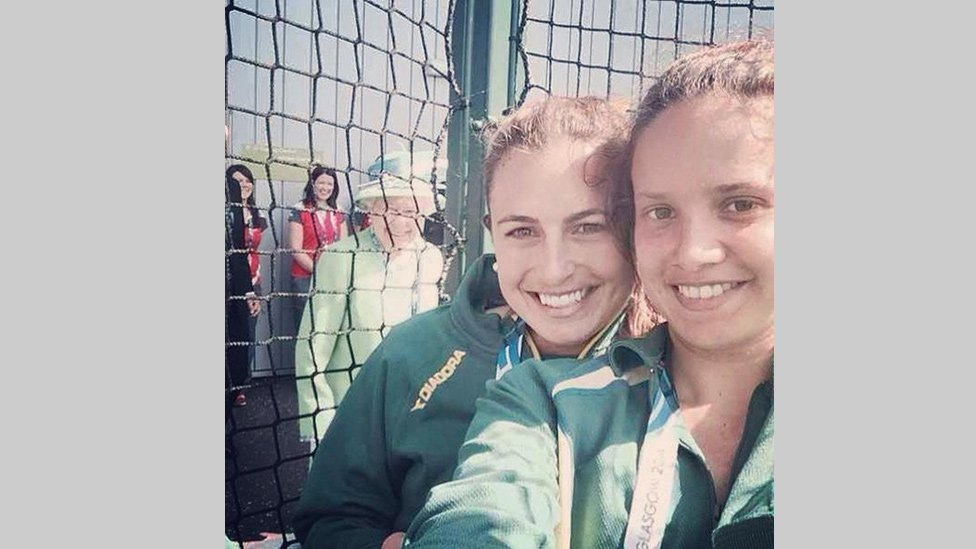 The Queen, Jayde Taylor and Brooke Peris