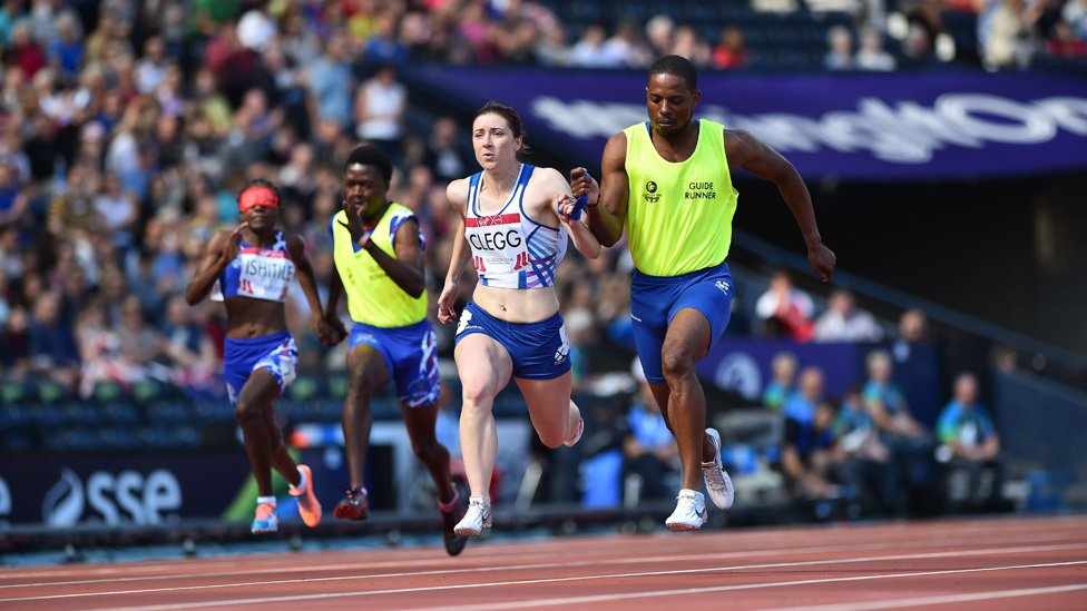 Libby Clegg and Mikail Huggins