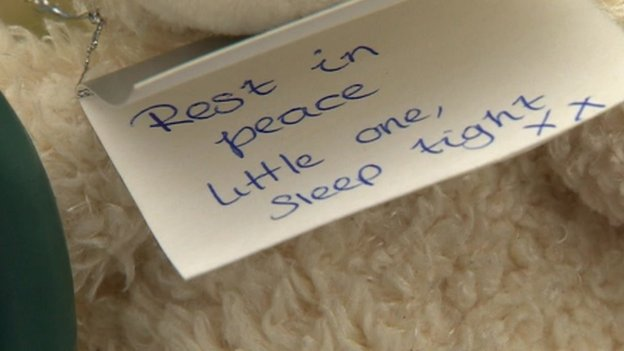 A tribute card to the girl