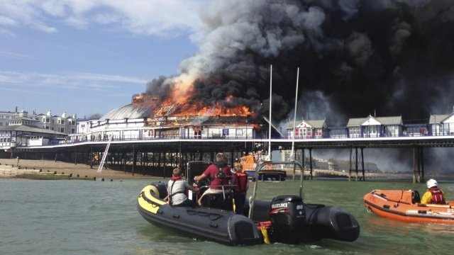 Eastbourne Pier fire