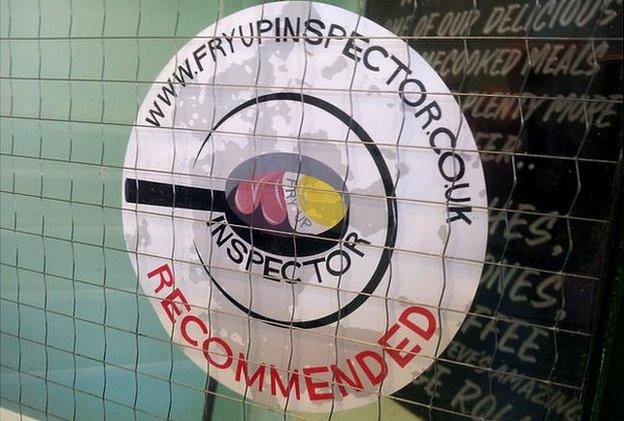 Fry Up Inspector sticker