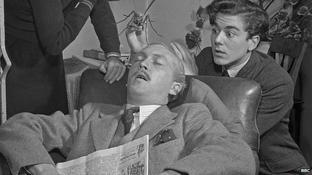 A picture from the Mr Brown family broadcast, broadcast on BBC radio in 1950