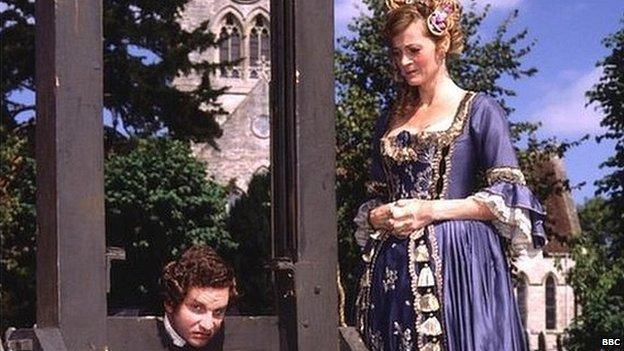A scene from the BBC sitcom the Brittas Empire