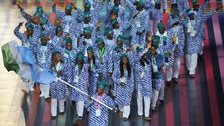 Sierra Leone athletes at the opening ceremony