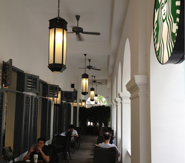 A former trading house is now a Starbucks