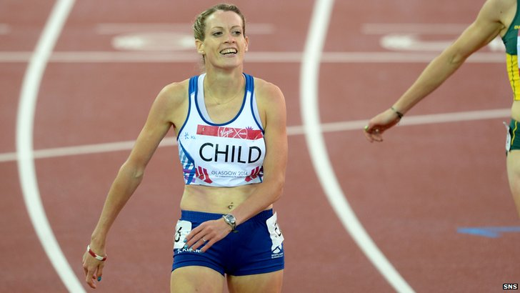 Eilidh Child wins silver at the 400m hurdles