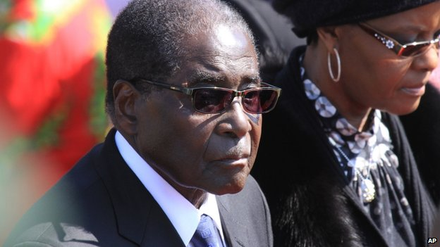 Zimbabwean President Robert Mugabe and his wife Grace pictured at an event in Harare in June, 2014