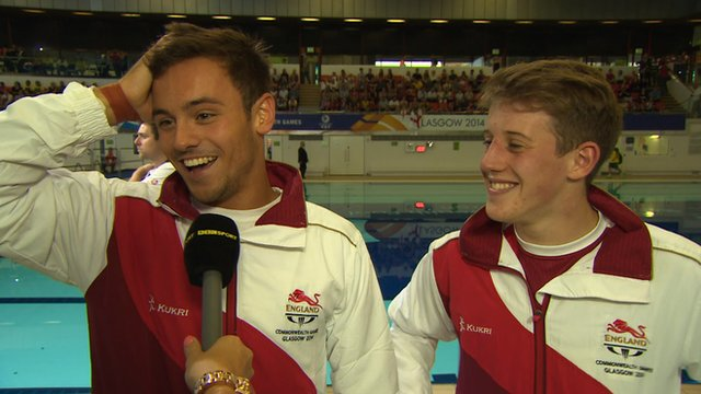 England divers Tom Daley and James Denny