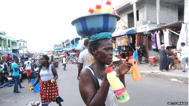 Street scene in Monrovia