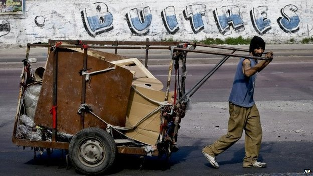 A garbage collector in Buenos Aires