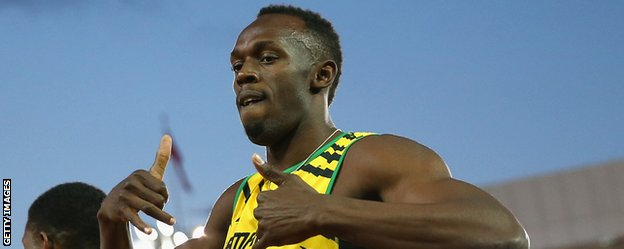 Usain Bolt helped Jamaica win their 4x100m relay heat at the Commonwealth Games