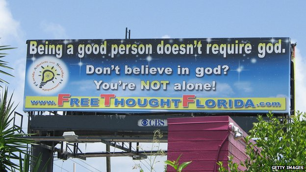 "Florida billboard - ""Being a good person doesn't require god"""