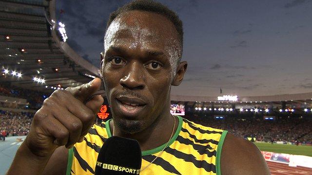 Jamaican sprint star Usain Bolt speaks to BBC Sport