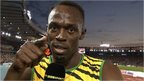 Jamaican sprint star Usain Bolt speaks to BBC Sport
