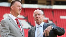 Louis van Gaal and Bobby Charlton