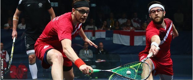 England's James Willstrop and Daryl Selby