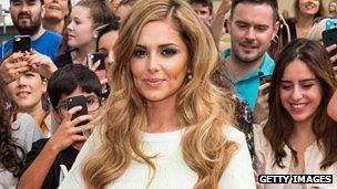 Cheryl Fernandez-Versini attends the X Factor Wembley Arena auditions at Wembley