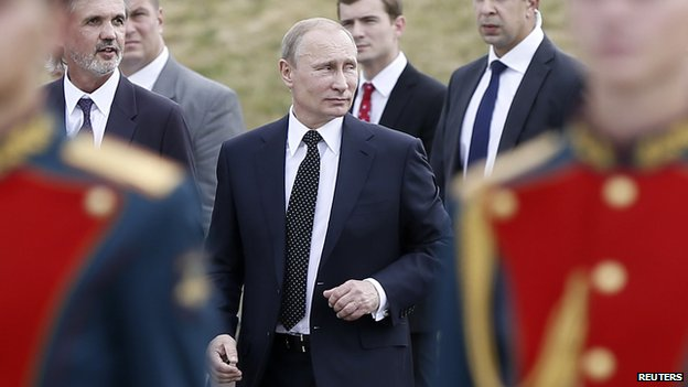 Vladimir Putin in Moscow on August 1