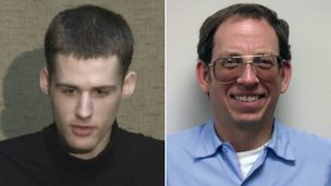 Matthew Miller, left, and Jeffrey Edward Fowle were both detained in North Korea in April - 1 August 2014