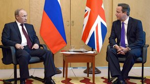 Vladimir Putin and David Cameron in June 2014