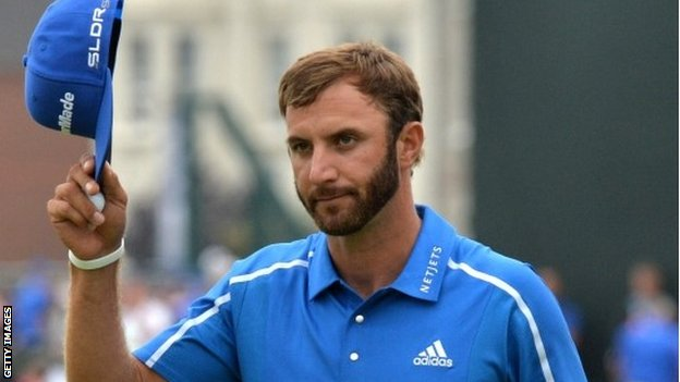 Dustin Johnson at the Open at Hoylake