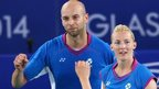 Scotland's badminton stars Robert Blair and Imogen Bankier at Glasgow 2014 Commonwealth Games