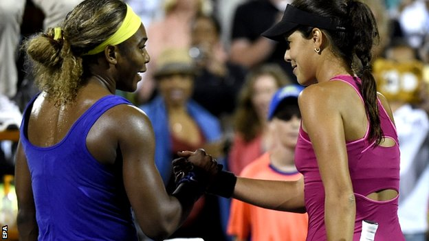 Serena Williams and Ana Ivanovic