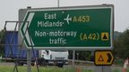 East Midlands Airport sign