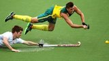 Eddie Ockenden of Australia scores the fourth goal for Australia