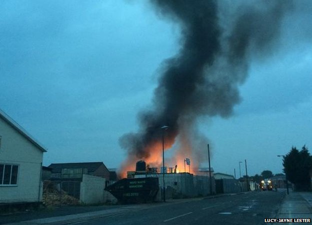 The fire in Long Eaton