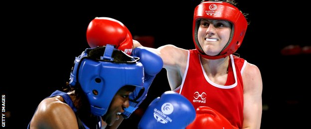 Nicola Adams fighting Michaela Walsh