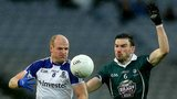 Dick Clerkin battles with Kildare's Fergal Conway at Croke Park