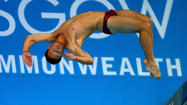England's Tom Daley competes in men's 10m platform final