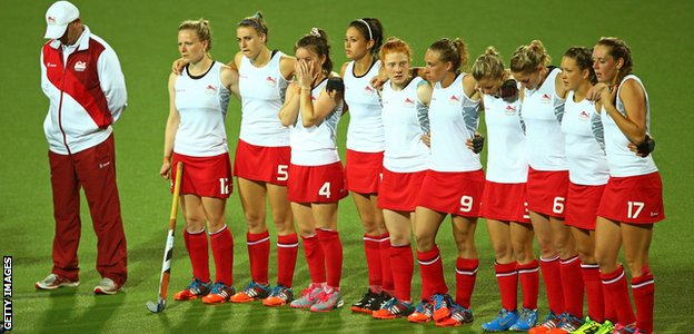 England team wait for penalty shootout